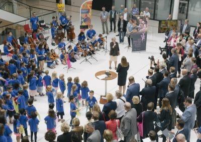 Begrüßung durch die Präsidentin des Landesverbandes niedersächsischer Musikschulen, Gabriele Lösekrug-Möller. Foto: Viola Maiwald